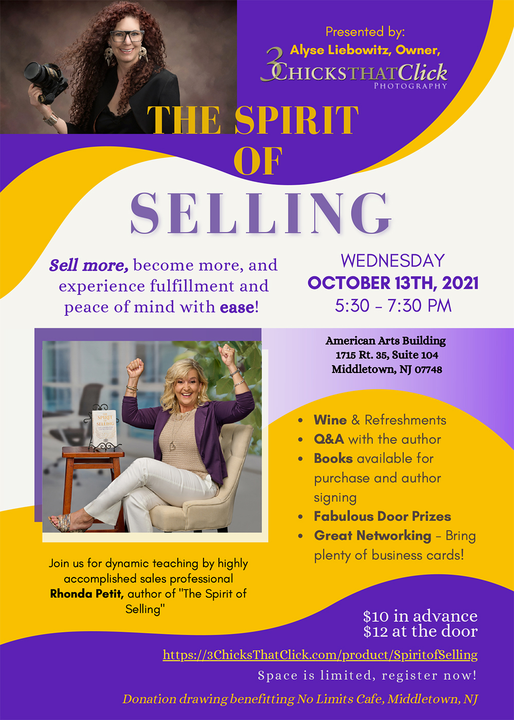 The Spirit of Selling, with author Rhonda Petit, photographed by 3 Chicks That Click Photography