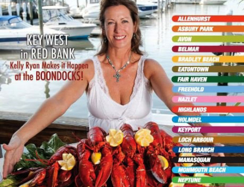 Garden State Menu Magazine Cover Featuring Kelly Ryan of Boondocks Restaurant in Red Bank, NJ